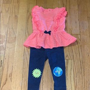 Baby Girls Size 3-6 months Matching Outfit